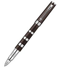 Ручка 5й пишущий узел Parker Ingenuity Large F501 Brown Metal and Rubber CT S0959180