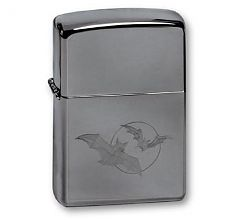 Зажигалка Zippo Buts and moon Black Ice 150 BATS-MOON