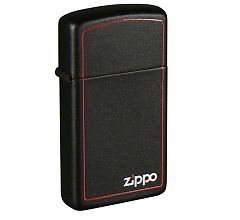 Зажигалка Zippo Узкая Slim ZB Black Matte 1618ZB