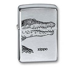 Зажигалка Zippo Крокодил Brushed Chrome 200 ALLIGATOR