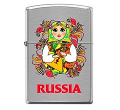 Зажигалка Zippo Classic Русская Матрёшка Brushed Chrome 200 MATROSHKA DOLL 2