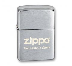 Зажигалка Zippo Classic Brushed Chrome 200 Name in flame