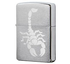 Зажигалка Zippo Cкорпион Brushed Chrome 200 Scorpion