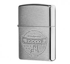 Зажигалка Zippo Classic Brushed Chrome 200 Since 1932