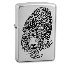 Зажигалка Zippo Classic Леопард Satin Chrome 205 LEOPARD