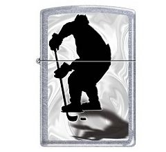 Зажигалка Zippo Хоккеист Street Chrome 207 HOCKEY