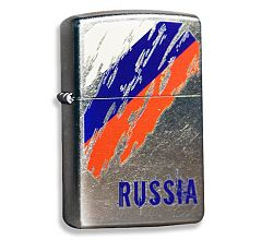 Зажигалка Zippo Classic Флаг России Street Chrome 207 Russia Flag