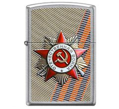Зажигалка Zippo Classic День победы Street Chrome 207 ST GEORGE