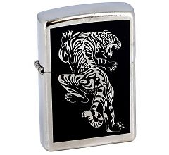 Зажигалка Zippo Classic Тигр Street Chrome 207 Tigre