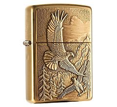 Зажигалка Zippo Classic Eagles Emblem Brushed Brass 20854