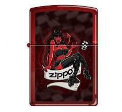 Зажигалка Zippo Classic Дьяволица Candy Apple Red 21063 DEVIL GIRL