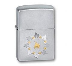 Зажигалка Zippo Classic Ring Of Fire Satin Chrome 21192