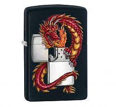 Зажигалка Zippo Classic Дракон Black Matte 218 ORIENTAL DRAGON