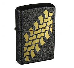 Зажигалка Zippo Classic Tire Tracks Black Crackle 236 Tire Tracks