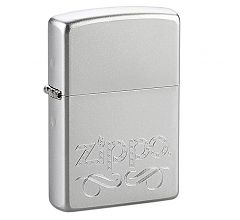 Зажигалка Zippo Classic Scroll Satin Chrome 24335