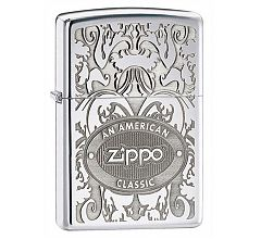 Зажигалка Zippo Classic American Gleaming Patina High Polish Chrome 24751