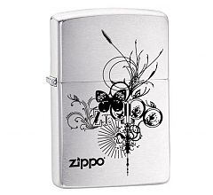 Зажигалка Zippo Classic Butterfly Brushed Chrome 24800