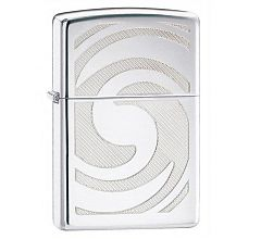 Зажигалка Zippo Classic 3D Abstract High Polish Chrome 28286
