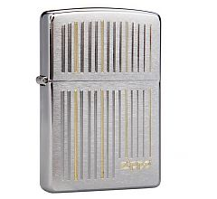 Зажигалка Zippo Classic Vertical Lines Brushed Chrome 28646