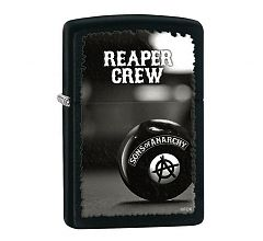 Зажигалка Zippo Classic Sons of Anarchy Black Matte 28677
