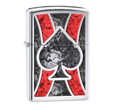 Зажигалка Zippo Classic Ace High Polish Chrome 28952