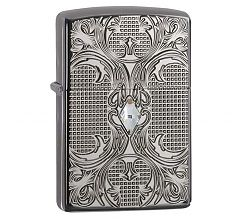 Зажигалка Zippo Armor Crystal Lattice Swarovski High Polish Black Ice 28956