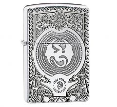 Зажигалка Zippo Armor Дракон Anne Stokes High Polish Chrome 28962