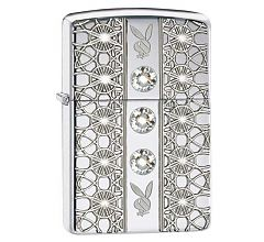 Зажигалка Zippo Armor Playboy Swarovski Brushed Chrome 28964