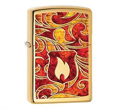 Зажигалка Zippo Classic Shield Fusion High Polish Brass 28975