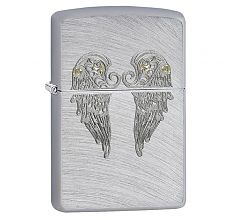 Зажигалка Zippo Classic Angel Wings Chrome Arch 29069