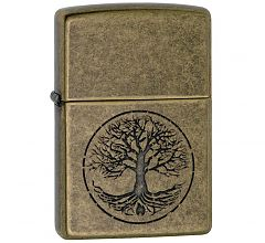 Зажигалка Zippo Classic Tree Of Life Antique Brass 29149