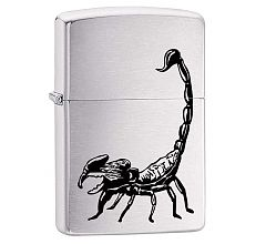 Зажигалка Zippo Classic 200 Scorpion Brushed Chrome 29204
