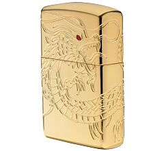 Зажигалка Zippo Armor Дракон Dragon High Polish Gold Plate 29265