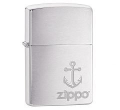 Зажигалка Zippo Classic Anchor Brushed Chrome 29531