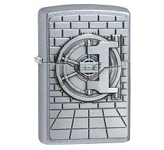 Зажигалка Zippo Safe with Gold Cash Surprise Emblem Street Chrome 29555