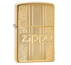 Зажигалка Zippo Classic Pattern Design High Polish Brass 29677