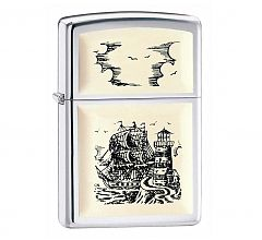 Зажигалка Zippo Ship Emblem High Polish Chrome 359