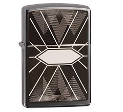 Зажигалка Zippo Triangles Geometry Black Ice 49164