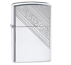 Зажигалка Zippo Lace High Polish Chrome 49165