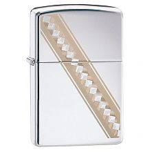 Зажигалка Zippo Ribbon Diamonds High Polish Chrome 49168