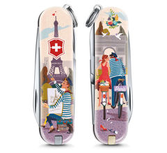 Нож-брелок Victorinox Classic The City of Love, 58 мм, 7 функций 0.6223.L1810